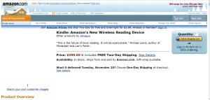 kindle 2007 product page