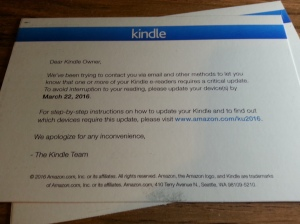 kindle update mail
