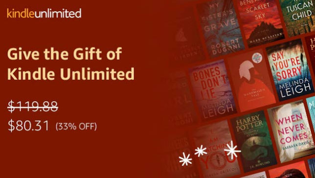 Amazon again allowing gifting of Kindle Unlimited | The